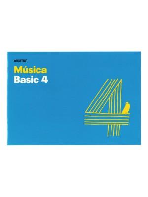 Cuaderno música 4 pentagramas de 20mm por pag 10h