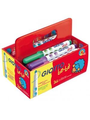 Caja sp 36 Rotuladores giotto be-bé colores surtidos