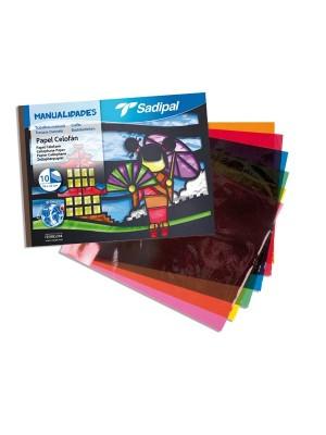 Cuaderno manualidades Sadipal papel celofán