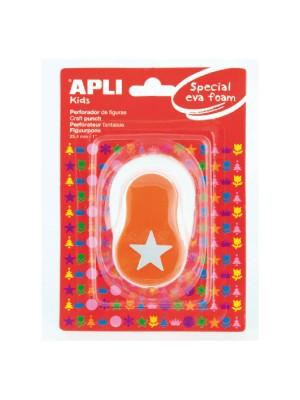 Perforadora de goma eva Apli con forma de estrella color naranja
