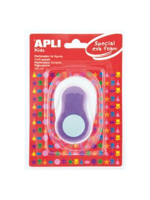 Perforadora de goma eva Apli con forma redonda color lila