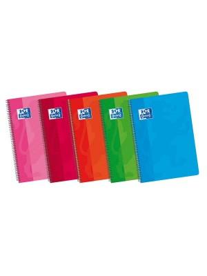 Cuaderno espiral Oxford tapas blandas 80h 4x4 4º colores surtidos