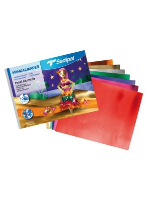 Cuaderno manualidades 10 papel aluminio