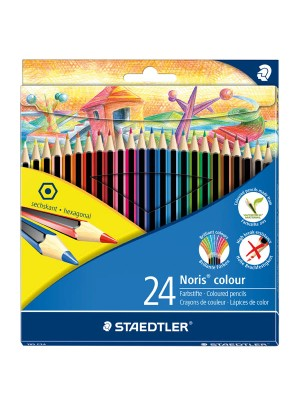 Caja 12 lápices de colores Staedtler Noris colour fucsia