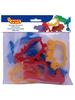 Bolsa 6 moldes animales jungla