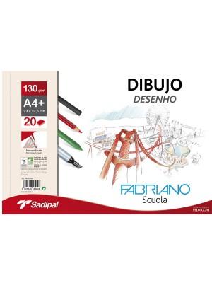 Caja de papel de dibujo Fabriano 250h  A4+ recuadro 23x32,5 cm