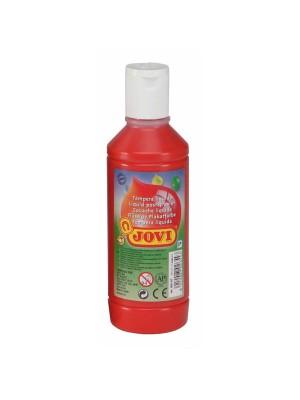 Botella tempera liquida Jovi 500ml rojo