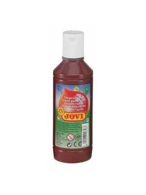 Botella tempera liquida Jovi 500ml marrón