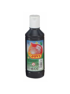 Botella tempera liquida Jovi 500ml negro