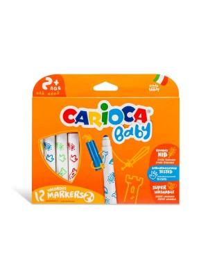 Estuche 12 rotuladores Carioca Baby +2 colores surtidos
