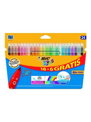 Estuche 18+6 rotuladores Bic Kids Couleur colores surtidos