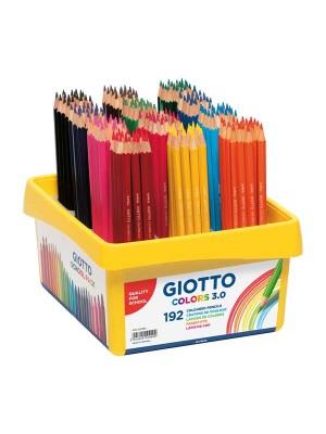 Caja School Pack 192 lápices de colores Giotto Colors 3.0 colores surtidos