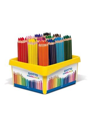 Caja School Pack 108 lápices de colores Giotto Mega colores surtidos
