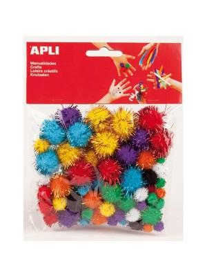Bolsa 78 pon pon Apli colores brillantes surtidos