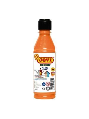 Botella pintura multiusos Jovidecor 250ml naranja