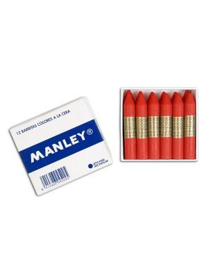 Caja 12 barritas ceras Manley azul ultramar