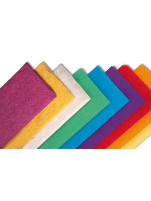 Rollo de papel crespon 0,5x2,50m rosa palido