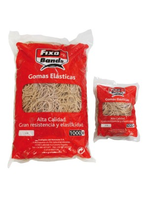 Gomas elásticas 10 cm bolsa 100 gr.