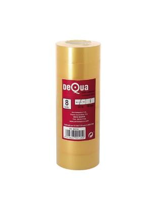Torre 8 rollos cinta adhesiva transparente Dequa 19mm.x33m.