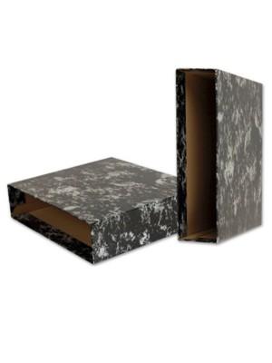 Cajetín de archivo jaspeado Dequa Folio Negro
