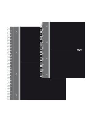 Cuaderno microperforado negro Cuarto