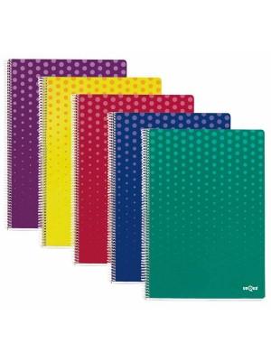 Cuaderno Dequa cubierta cartón. 80h. 60g. Cuadrícula 4x4 Folio. Colores Surtidos