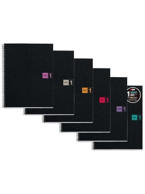 Cuaderno Miquel Rius Note Book 1M cubierta PP. Microperforado 80h. 70g. Cuadrícula 5x5. 1 banda de color A4. Azul