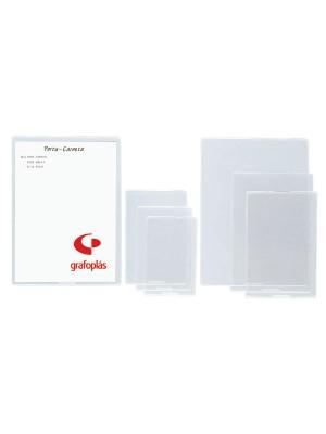 Portacarnets uñero Grafoplas PVC 150µ 4º Caja 50u.