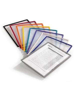Fundas para clasificador Sherpa marco de color A4 Pack 5 fundas. Negro