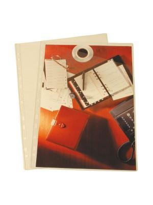 Funda Grafoplas Sin taladros PVC 100µ Especial planos Corte diagonal A4 Caja 100u.
