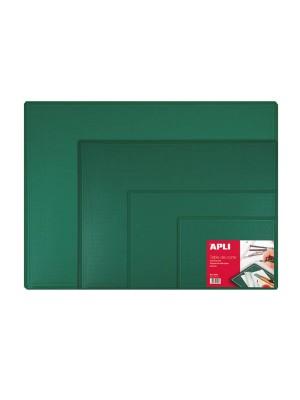 Tabla de corte 300x220x2mm. PVC (A4) Verde