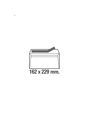 Caja 500 sobres 90g. Cierre tira de silicona C5 162x229mm. Ventana derecha Blanco