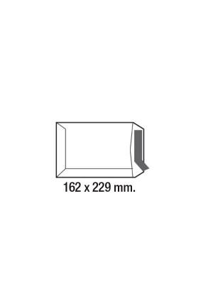 Caja 250 bolsas 100g. C4 229x324mm. Ventana derecha Offset Blanco