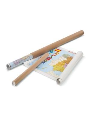 Mapamundi Faibo. Superficie plastificada. Se entrega enrollado en tubo de cartón. 84x140cm.