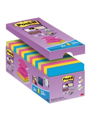 Pack de notas autoadhesivas Post-it Super Sticky Z-Notes