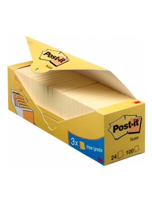 Pack ahorro notas Post-it 38x51mm. 16+4 GRATIS Amarillo