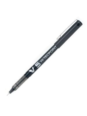 Roller de tinta líquida y punta de aguja Pilot V5 Negro