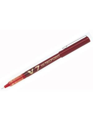Roller de tinta líquida y punta de aguja Pilot V7 Rojo