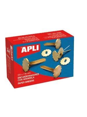 Caja 100 encuadernadores Apli con arandela 40mm.