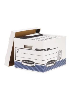 Contenedor de archivos Banker Box Con tapa  333x285x390mm. Pack 10u.