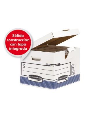 Contenedor de archivos Banker Box Con tapa fija 293x350x370mm. Pack 10u.
