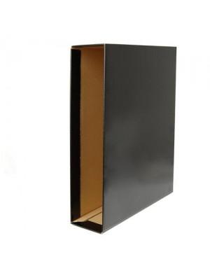 Cajetín de archivo Esselte plástico encolado Lomo 75mm. Folio Negro brillante
