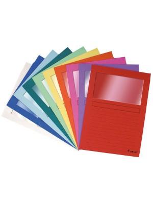 Subcarpetas Forever Cartulina 120g. Con ventana A4 Colores surtidos Pack 25u.