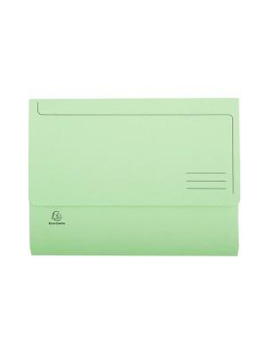 Subcarpetas Exacompta Cartulina 210g. Con bolsa A4 Verde Pack 10u.