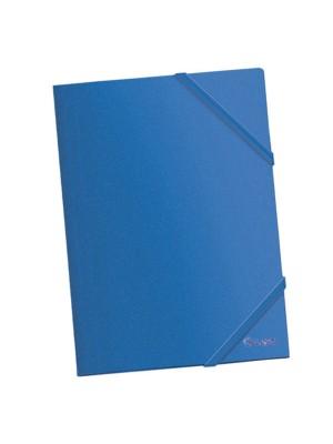 Carpeta Dohe PP opaco. Con gomas planas y 3 solapas A4 Azul