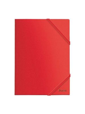 Carpeta Dohe PP opaco. Con gomas planas y 3 solapas A4 Rojo