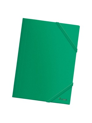 Carpeta Dohe PP opaco. Con gomas planas y 3 solapas A4 Verde