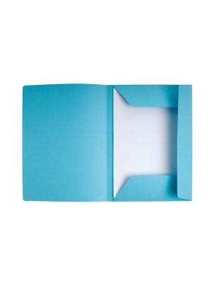 Subcarpetas Exacompta Cartulina 210g. 3 solapas A4+ Azul claro Pack 50u.