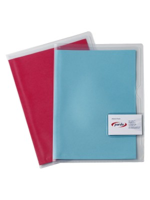 Dossier Pardo con solapa y tarjetero Folio