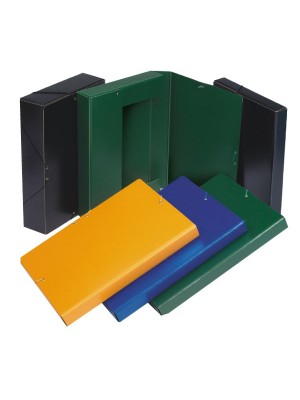 Caja de proyectos de cartón gofrado lomo 7 cm Azul